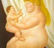 botero_xx_mother_with_child_1995_